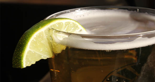 beer with lime