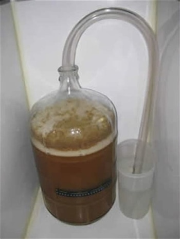 carboy with large blow off