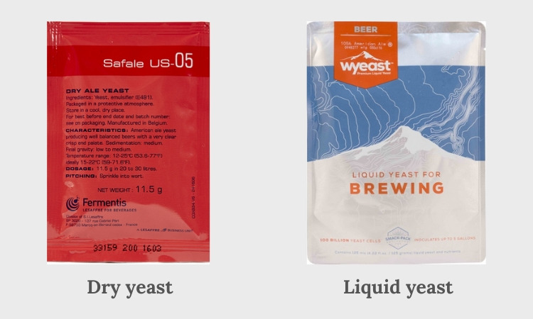 difference dry yeast and liquid yeast