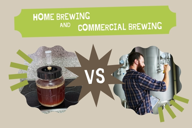 home brewing vs commercial brewing