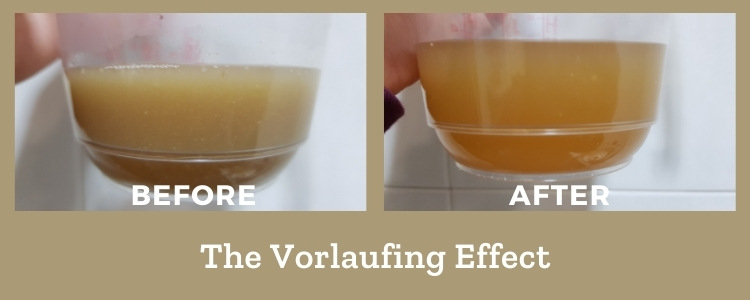 vorlaufing effect before and after